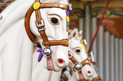 Carousel horse. S on a Traditional Fun Fair Ride Stock Image