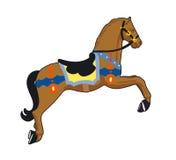 Carousel horse. Wooden horse at the fair Vector Illustration