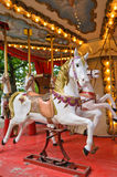 CAROUSEL HORSE. An old carousel in the city of Wroclaw (Poland Royalty Free Stock Image