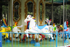 Carousel horse. Colorful carousel horse in the park Royalty Free Stock Photos