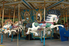 Carousel horse. On merry go round Royalty Free Stock Image