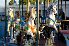 Carousel horse. Merry go round at the park (carousel horse Stock Photography
