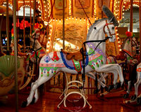 Carousel Horse. Closeup of carousel horse in local mall Royalty Free Stock Images