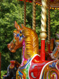 Carousel horse. In amusement park Stock Image