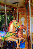 Carousel horse. In Amusement Park Royalty Free Stock Photo