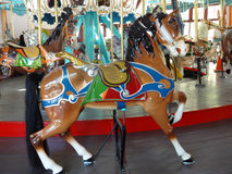 Carousel Horse. On an amusement park ride stock photos