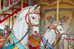 Carousel with horse - antique and nostalgic style Royalty Free Stock Photo