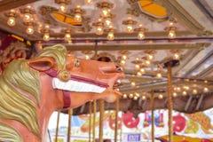Carousel horse at festival Stock Photos