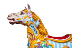 Carousel horse isolated Royalty Free Stock Photo
