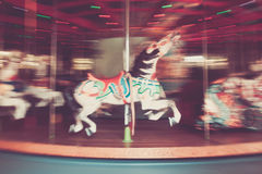 Carousel Horse in Motion Royalty Free Stock Image