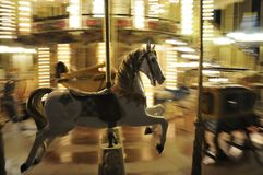 Carousel Horse At Night Stock Images