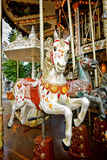 Carousel Horse on Old Amusement Merry Go Round Royalty Free Stock Image