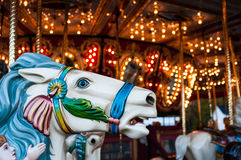 A carousel horse at the Sandwich Fair, Sandwich, New Hampshire, October 14, 2014. Stock Image