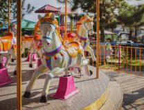 Carousel Horse. Traditional Carousel Horse on a Carnival Merry Go Round Stock Photos