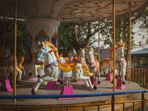 Carousel Horse. Traditional Carousel Horse on a Carnival Merry Go Round Royalty Free Stock Images