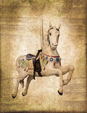 Carousel horse  vintage process Royalty Free Stock Image