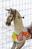 Carousel horse in winter Stock Images