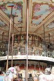 Carousel horse in wood. Antique carousel made entirely of wood Royalty Free Stock Photos