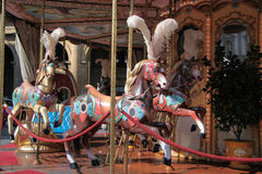 Carousel horses Stock Photo