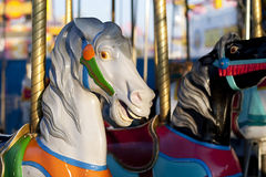 Carousel Horses. Merry-go-round horses at a fairground Royalty Free Stock Images