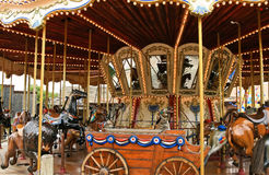 Carousel with horses Stock Photo