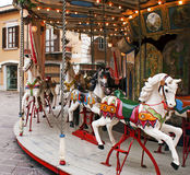 Carousel horses. Traditional carousel with colorful horses Royalty Free Stock Photos