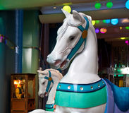 Carousel Horses at an Arcade Stock Images