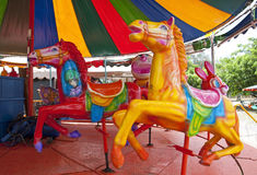 Carousel. Horses on a carnival Royalty Free Stock Photography