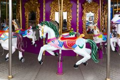 Carousel Horses on carnival Royalty Free Stock Photo