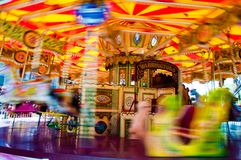 Carousel with horses on a carnival Merry Go Round Royalty Free Stock Image