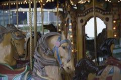 Carousel horses. Carousel horse ride Royalty Free Stock Photography