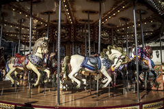 Carousel horses, Image of the city of Madrid, its characteristic Stock Image
