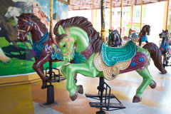 Carousel Horses in Siam park city. One of most famous amusement park in Bangkok Thailand Royalty Free Stock Image