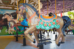 Carousel Horses at Siam park city. One of most famous amusement park in Bangkok Thailand Stock Photos