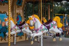 Carousel with horses Stock Photos