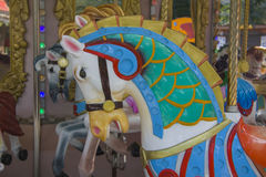 Carousel horses stock image