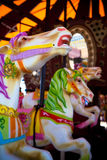 Carousel Horses. Vintage Ceramic Horses on a carousel Royalty Free Stock Images