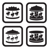 Carousel icon in four variations.  Royalty Free Stock Photo