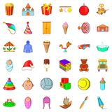 Carousel icons set, cartoon style. Carousel icons set. Cartoon style of 36 carousel vector icons for web isolated on white background Stock Photo