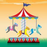 Carousel illustration Stock Image