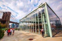Carousel Janes в парке Бруклинского моста, NYC Стоковая Фотография