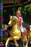 Carousel kid Royalty Free Stock Image