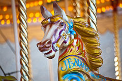 carousel koń Zdjęcia Royalty Free