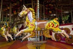 Carousel koń, Keswick, Cumbria, Anglia Fotografia Stock