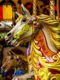 Carousel koń, Keswick, Cumbria, Anglia Zdjęcia Royalty Free