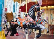 Carousel konie Obrazy Stock