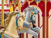 Carousel konie Fotografia Royalty Free