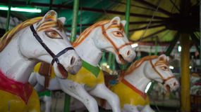 Carousel konie Obrazy Royalty Free