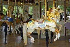 carousel konie dwa Obraz Stock
