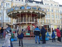 Carousel in Kyiv 2016 Royalty Free Stock Photography